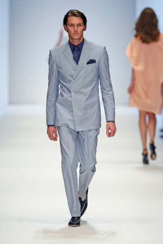 Anzug als Zweireiher mit langer Jacke von BossBlack