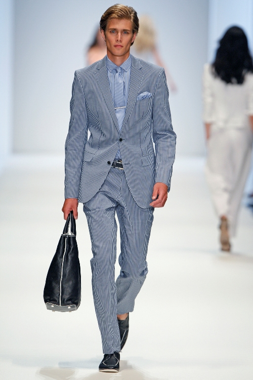 Einreiher als Anzug-Jacke bei diesem Freizeit-Anzug von Boss-Black