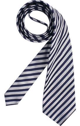 Krawatte Blau-Weiß gestreift von Carl Cross