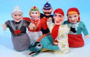 Kasperle spielen - Handpuppen Sortiment Kasperl-Figuren