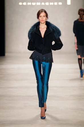 Dorothee Schumacher - Blau oft in der Kollektion zur MB Fashion Week 2012
