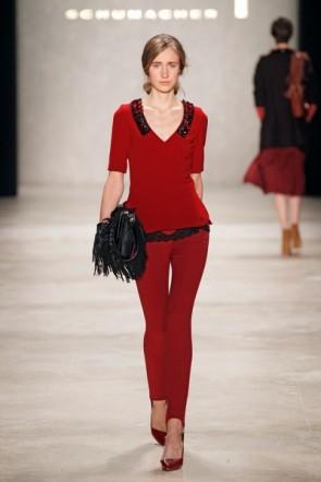 Dorothee Schumacher - Modefarbe Rot in der ganzen Kollektion zur MB Fashion Week 2012