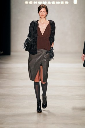 Dorothee Schumacher grauer Rock - MB Fashion Week Januar 2012