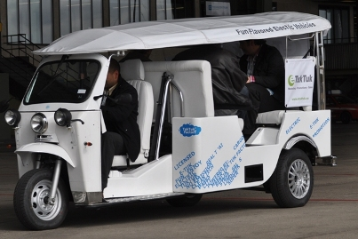 E-Tuk-Tuk auf der Clean Tech World in Berlin