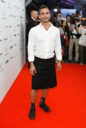 Marc Jacobs im Rock auf der Mercedes Benz Fashion Week